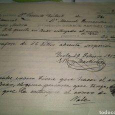 Cartas comerciales: HOJAS PEDIDO IGNACIO MARTINEZ CEREZO. A MANUEL FERRANDIZ CAMPO DE MIRRA. AGUARDIENTE LICORES 1913. Lote 80393729