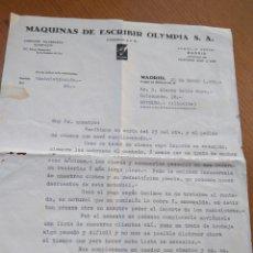 Cartas comerciales: CARTA COMERCIAL MÁQUINAS DE ESCRIBIR OLYMPIA MADRID 1935. Lote 82189786