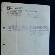 Lettere commerciali: JOSE ALSINA / MADRID 1926 / CARTA COMERCIAL. Lote 84642452