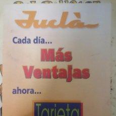 Cartas comerciales: TARJETA CLIENTE DE JUCLA - AÑOS 80. Lote 85461752