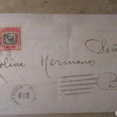 Cartas comerciales: CORREO , REPÚBLICA DOMINICANA A BAÑERES, ALICANTE 1908.. Lote 88857340