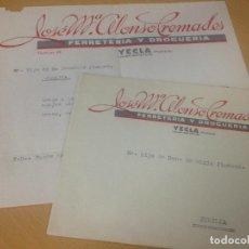 Cartas comerciales: ANTIGUA CARTA COMERCIAL FERRETERIA DROGUERIA YECLA MURCIA. Lote 91391590