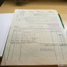 Cartas comerciales: DOCUMENTO CON TAMPÓN DE FRANCO TABLEROS JOSÉ ALCARAZ. SAN VICENTE RASPEIG (ALICANTE) ). 6 MARZO 1941. Lote 92018039