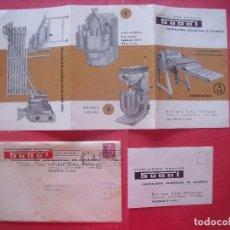 Cartas comerciales: ENRIQUE SUAY BALAGUER.-SUBAL.-PANADERIA.-INSTALACIONES AUTOMATICAS DE PANADERIA.-PUBLICIDAD.VALENCIA. Lote 92248950