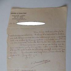 Cartas comerciales: MADRID, 1929, A ALMADÉN - LABORATORIO DE PRÓTESIS DENTAL ENRIQUE LASSO DE LA VEGA. Lote 93420735