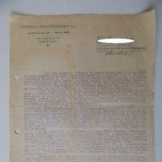 Cartas comerciales: COMERCIAL OTTO STREITBERGER, BARCELONA, A VIAJANTE A COMISIÓN - AMPLIACIÓN CON PRODUCTOS TELEFUNKEN. Lote 93459690