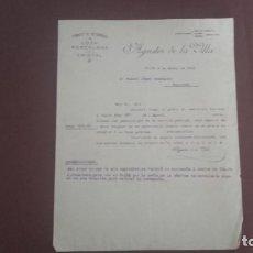Cartas comerciales: CARTA COMERCIAL AGUSTÍN DE LA VILLA GIJÓN . Lote 95062243