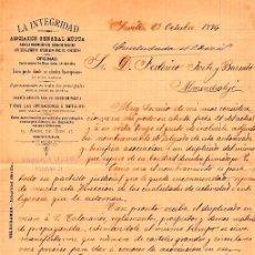 Cartas comerciales: CARTA COMERCIAL OFICINA LA INTEGRIDAD SEVILLA AÑO 1894 SIGLO XIX. Lote 95136903