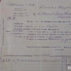 Cartas comerciales: CARTA COMERCIAL SATURNINO NIETO LUGO CORUÑA . Lote 95288471