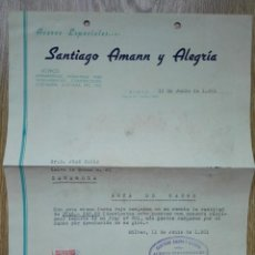 Cartas comerciales: ENVÍO GRATIS. ACEROS ESPECIALES SANTIAGO AMANN. BILBAO, 1951. Lote 96105511