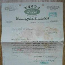 Cartas comerciales: ENVÍO GRATIS. CONCESIONARIO FORD SEVILLA, 1951. Lote 96105623
