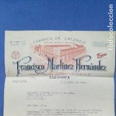 Cartas comerciales: ENVÍO GRATIS. CARTA COMERCIAL FÁBRICA DE CALZADO FRANCISCO MARTÍNEZ. ZARAGOZA, 1949. Lote 96106091