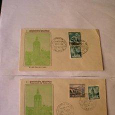 Cartas comerciales: SOBRE CONMEMORATIVO, II EXPOSICION FILATELICA REGIONAL DE VALENCIA, 1966, CUÑADA, VALENCIA LOTE DE 2. Lote 96162459
