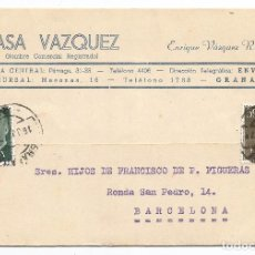 Cartas comerciales: GRANADA .- CASA VAZQUEZ .- 1959. Lote 96685387