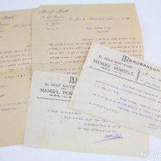 Cartas comerciales: CARTAS COMERCIALES Y MEMORÁNDUMS - MANUEL PORTELL. EL SIGLE SANTJOANÍ - SAN JUAN ABADESAS, 1920. Lote 97922363