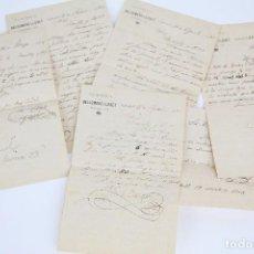 Cartas comerciales: ANTIGUAS CARTAS COMERCIALES - CAMISERÍA DE BALDOMERO LLOBET - SABADELL, 1902. Lote 97923963