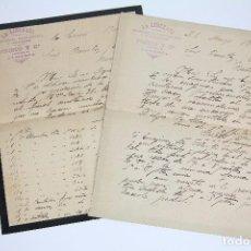 Cartas comerciales: ANTIGUAS CARTAS COMERCIALES - LA LIBERATA. CAMISERÍA, PERFUMERÍA... / PRIETO Y CÍA. - ALMERÍA, 1900. Lote 97931867