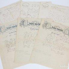 Cartas comerciales: ANTIGUAS CARTAS COMERCIALES - PEDRO SÁNCHEZ. COMERCIO DE ROPAS... - SANT FELIU DE GUÍXOLS, 1909. Lote 97933291
