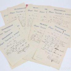 Cartas comerciales: ANTIGUAS CARTAS COMERCIALES / MEMORANDUMS - GASPAR VACARISAS Y HERMANO - TARRASA, AÑO 1909. Lote 98125903