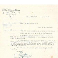 Cartas comerciales: CARTA COMERCIAL. BLAS SANZ MORENO. AGENTE COMERCIAL. SORIA. ESPAÑA 1927. Lote 99006195