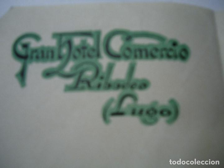 1943 CARTA CON MEMBRETE GRAN HOTEL COMERCIO RIBADEO LUGO (Coleccionismo - Documentos - Cartas Comerciales)