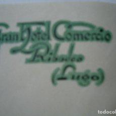 Cartas comerciales: 1943 CARTA CON MEMBRETE GRAN HOTEL COMERCIO RIBADEO LUGO. Lote 101095423