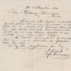 Cartas comerciales: CARTA COMERCIAL. LÓPEZ HERMANOS. STA. CRUZ DE TENERIFE. ESPAÑA 1884. Lote 101193739
