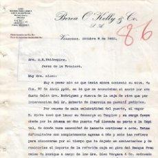 Cartas comerciales: CARTA COMERCIAL. BEREA O´KELLY & Cº. VERACRUZ. MÉXICO 1920. Lote 101202547