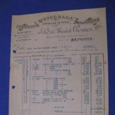 Cartas comerciales: CARTA, FACTURA DE QUINCALLA ARTICULOS DE PARIS. BAYONA 1927. Lote 101204847