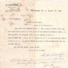 Cartas comerciales: CARTA COMERCIAL. M. CORTISSOZ. BUCARAMANGA. COLOMBIA 1912. Lote 101205971