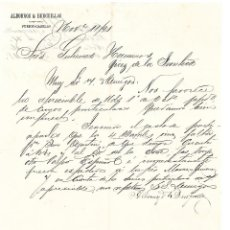 Cartas comerciales: CARTA COMERCIAL. ALBORNOZ & BURGUILLOS. PUERTO CABELLO 1891. Lote 101207035