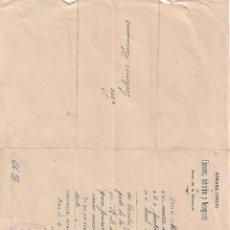 Cartas comerciales: CARTA COMERCIAL. CÁMARA OFICIAL DE COMERCIO, INDUSTRIA Y NAVEGACIÓN. JEREZ DE FRONTERA. ESPAÑA 1906. Lote 101209255
