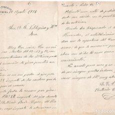 Cartas comerciales: CARTA COMERCIAL. CÍRCULO RECREATIVO. CARMONA 1924. Lote 101211467