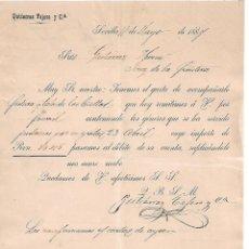 Cartas comerciales: CARTA COMERCIAL. GUTIERREZ TEJERO Y Cª. SEVILLA. ESPAÑA 1884. Lote 101211711