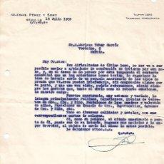 Cartas comerciales: CARTA COMERCIAL. IGLESIAS PÉREZ Y SORO. SEVILLA. ESPAÑA 1959. Lote 101211971