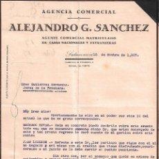 Cartas comerciales: CARTA COMERCIAL. ALEJANDRO G. SÁNCHEZ. AGENTE COMERCIAL. SALAMANCA. ESPAÑA 1927. Lote 102072531