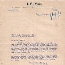 Lettres commerciales: CARTA COMERCIAL. J.E.VELEZ. IMPORTADOR Y EXPORTADOR. GUAYAQUIL. ECUADOR 1922. Lote 102332995