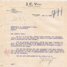 Lettres commerciales: CARTA COMERCIAL. J.E.VELEZ. IMPORTADOR Y EXPORTADOR. GUAYAQUIL. ECUADOR 1922. Lote 102333859