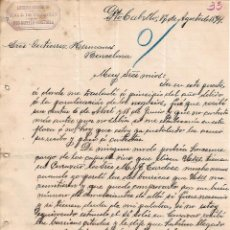 Cartas comerciales: CARTA COMERCIAL. EDO. J. DE VILLACIÁN. LIBRERÍA ESPAÑOLA. PTO. CABELLO. VENEZUELA. 1894. Lote 102675631