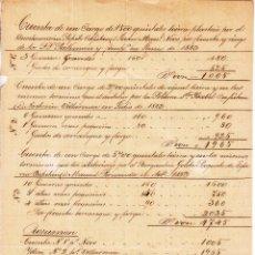 Cartas comerciales: ,,,CUENTA DE GASTOS DE 3 EMBARQUES POR CUENTA DE PICKMAN VILLAGARCIA DE AROSA 25/9/1883. Lote 102938171