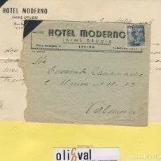 Cartas comerciales: HOTEL CARTAS DESDE ... HOTEL FELIPE IV VALLADOLID 1946 HCD 024. Lote 104090815