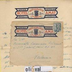 Cartas comerciales: HOTEL CARTAS DESDE ... HOTEL RESTAURANTE AMAT MURCIA A 1946 HCD 036. Lote 104112627
