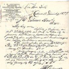 Cartas comerciales: CARTA COMERCIAL. TABACO. J.M.ARGOMEDO. HABANA, 1899. Lote 104367747