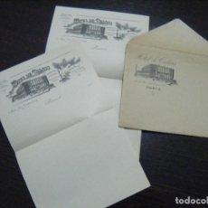 Cartas comerciales: JML CARTA SOBRE INTONSO HOTEL DE CALAIS, RUE DES CAPUCINES, PARIS, FRANCIA. BONITO. Lote 106554823