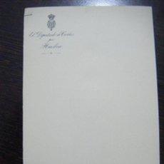 Cartas comerciales: JML PAPEL CARTA DE EL DIPUTADO A CORTES POR HUELVA. 13X20 CM. VER FOTOS.. Lote 106555015