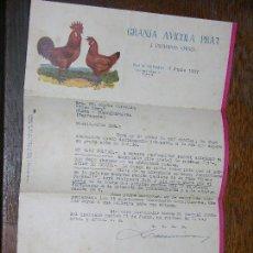 Cartas comerciales: GRANJA AVICOLA PRAT TORREDEMBARRA TARRAGONA AÑO 1957 GIRO POSTAL. Lote 106576691