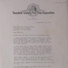 Cartas comerciales: ROD AMATEAU SIGNED LETTER/1963/STUDIOS BEVERLY HILLS,CALIFORNIA. Lote 107710451