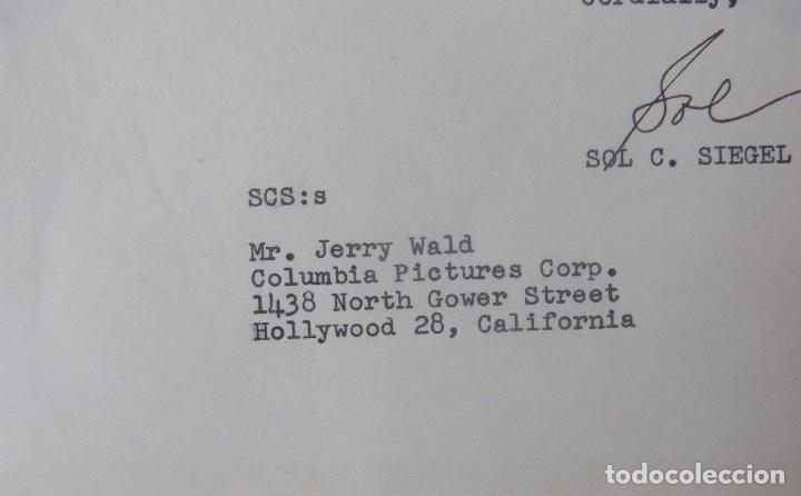 Sol C Siegel writer to Jerry Wald signed letter/1953/Twentieth Century-Fox  film