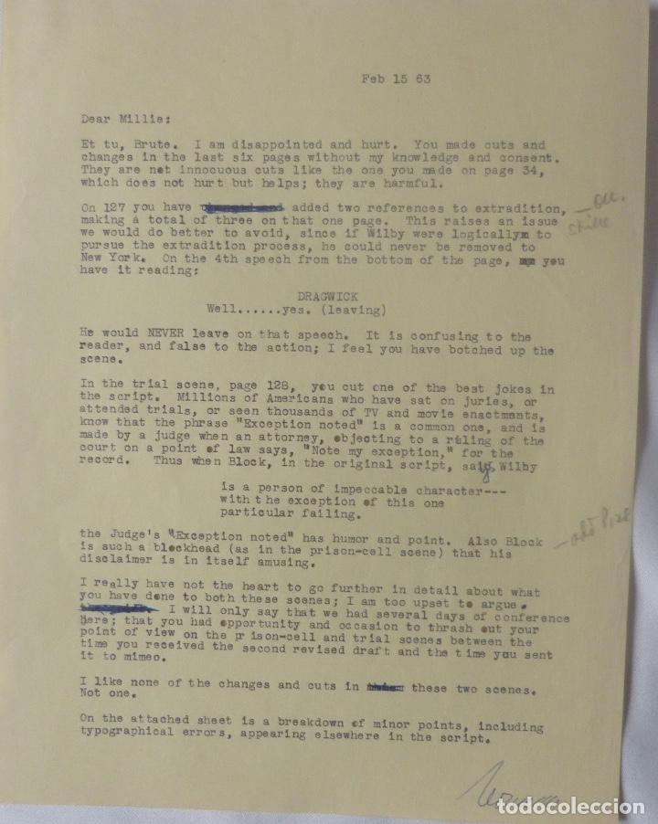 MARC BRANDEL SIGNED LETTER/22ND OCTOBER,1968 (Coleccionismo - Documentos - Cartas Comerciales)