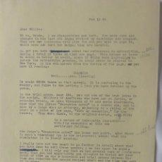Cartas comerciales: MARC BRANDEL SIGNED LETTER/22ND OCTOBER,1968. Lote 107748155